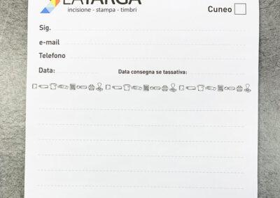 Bloc Notes 1 | La Targa Cuneo | Targhe E Timbri Cuneo (Cn)