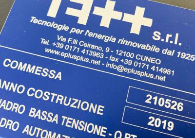 Targhe Matricola 4 | La Targa Cuneo | Targhe E Timbri Cuneo (Cn)