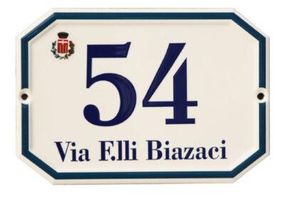 Numerazione Civica Effetto Ceramicato 1 | La Targa Cuneo | Targhe E Timbri Cuneo (Cn)