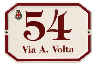Numerazione Civica Effetto Ceramicato 2 | La Targa Cuneo | Targhe E Timbri Cuneo (Cn)